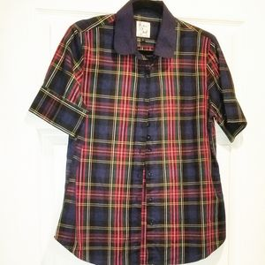 THE SHIRT by Rochelle Behrens in tartan plaid